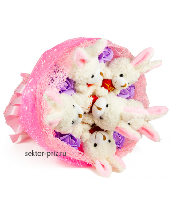 Букет из игрушек «Плюшевые зачата»