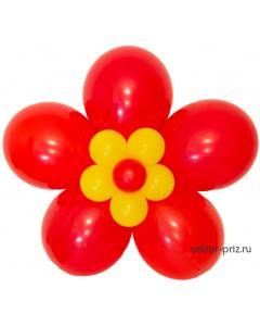 Фигуры из воздушных шаров, Фигура из шаров «Цветок на стену»