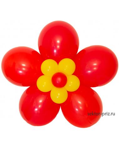 Фигура из шаров «Цветок на стену»