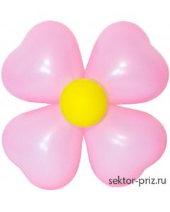 Фигуры из воздушных шаров, Фигура из шаров «Цветок на стену 2»