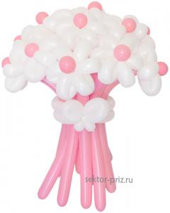 Букеты из воздушных шаров, «Грезы любви» — 13 цветов из шаров