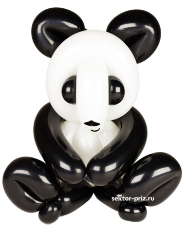 Фигуры из воздушных шаров, Фигура из шаров «Панда»