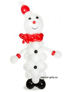 Фигуры из воздушных шаров, Фигура из шаров «Снеговик»