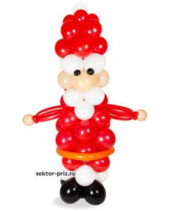 Фигура из шаров «Дед Мороз»
