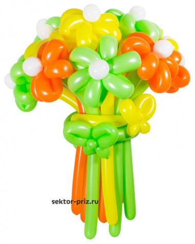 «Летний» — 15 цветов из шаров