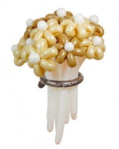 Букеты из воздушных шаров, «Горячий шоколад» — 13 цветов из шаров