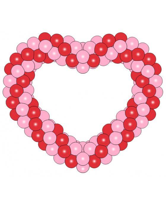 Фигура из шаров «Сердце на каркасе 2»