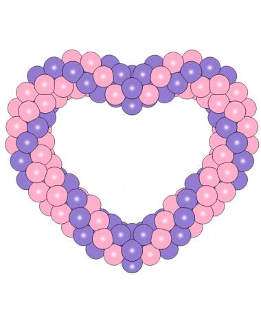 Фигура из шаров «Сердце на каркасе 3»