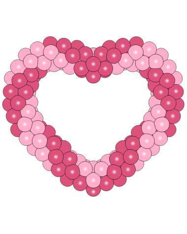 Фигура из шаров «Сердце на каркасе 4»