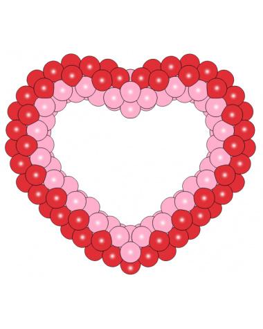 Фигура из шаров «Сердце на каркасе 5»