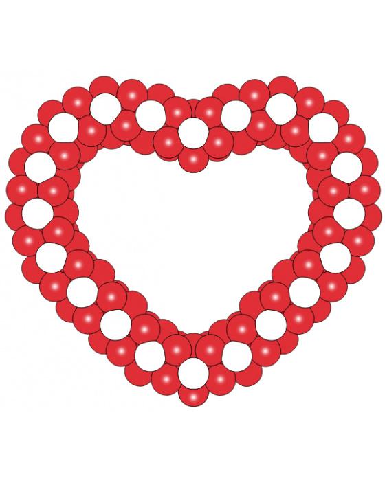 Фигура из шаров «Сердце на каркасе 6»