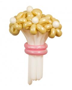 Букеты из воздушных шаров, «Нежный» — 7 цветов из шаров