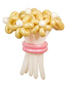 Букеты из воздушных шаров, «Нежный» — 9 цветов из шаров