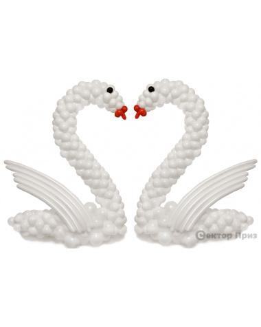 Фигура из шаров «Лебеди на свадьбу»