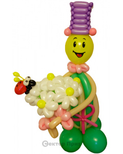 Фигура из шаров «Секси девушка»