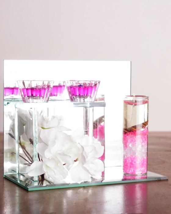Три свечи гелевые с цветами