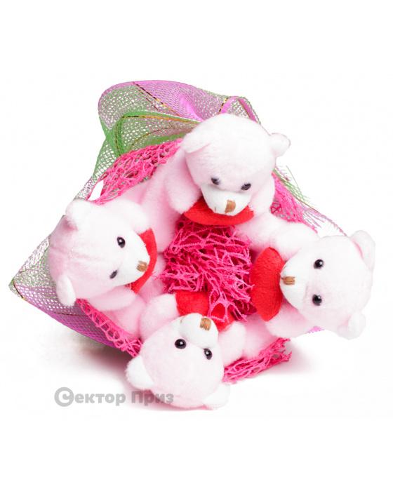 Букет из игрушек «Любимые медведи»
