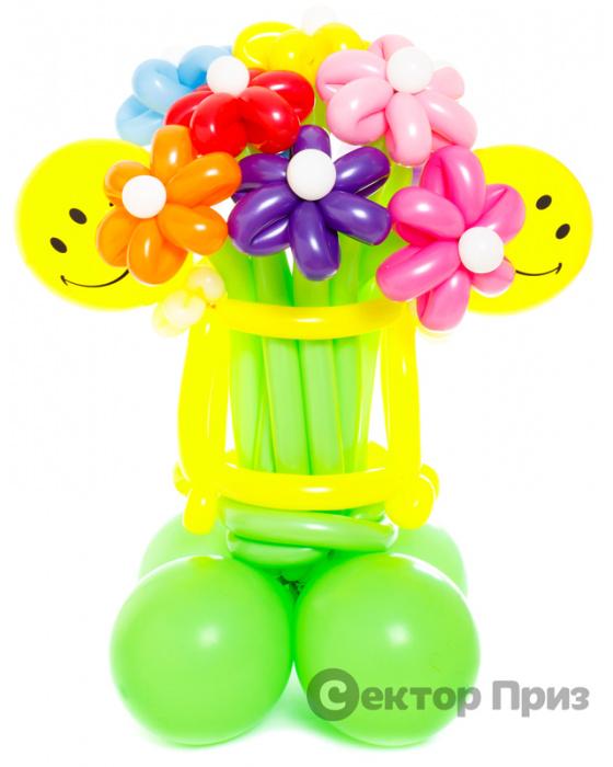 Букет «Смайл» — 15 цветов из шаров