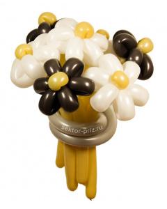 Букеты из воздушных шаров, «Кофе с молоком» — 7 цветов из шаров