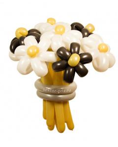 Букеты из воздушных шаров, «Кофе с молоком» — 9 цветов из шаров
