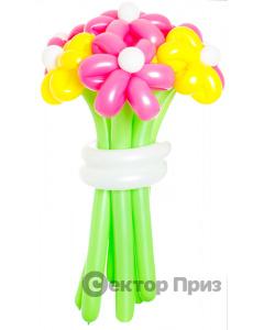«Мед в снегу» — 7 цветов из шаров