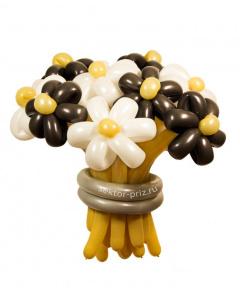 Букеты из воздушных шаров, «Кофе с молоком» — 13 цветов из шаров
