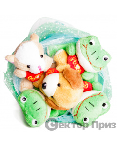 Букет из игрушек «Плюшевые собачки»