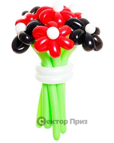 «Поцелуй черной бабочки» — 11 цветов из шаров