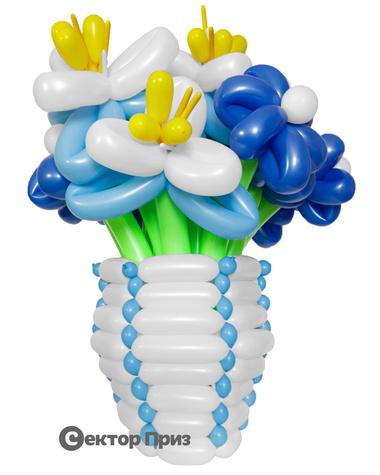 Корзина из шаров с цветами «Затмение»