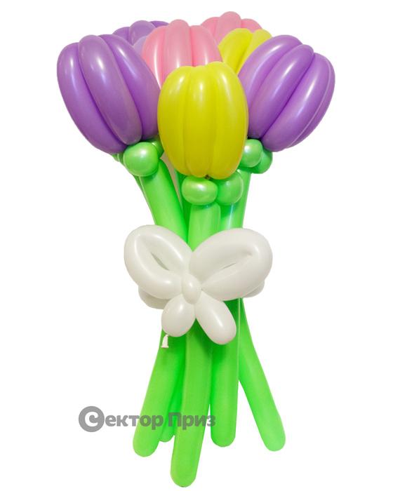 «Тюльпаны» — 7 цветов из шаров