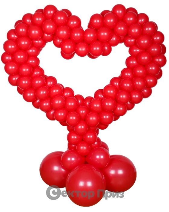 Стойка из шаров «Сердце»