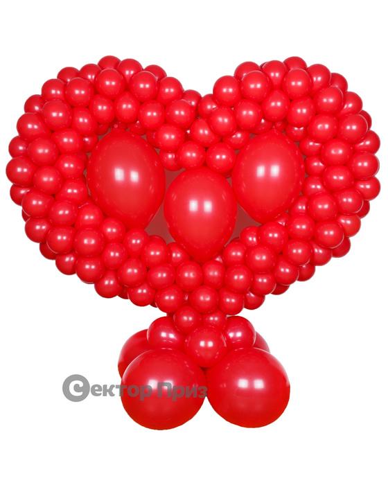 Стойка из шаров «Сердце несквозное»