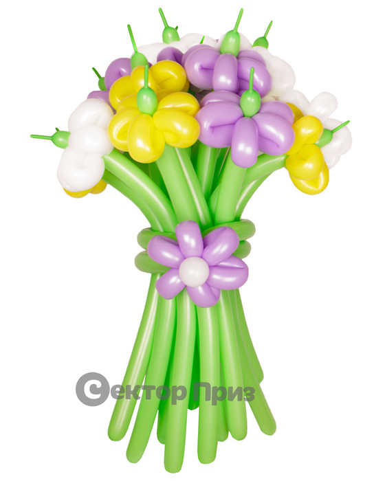 «Шик» — 15 цветов из шаров