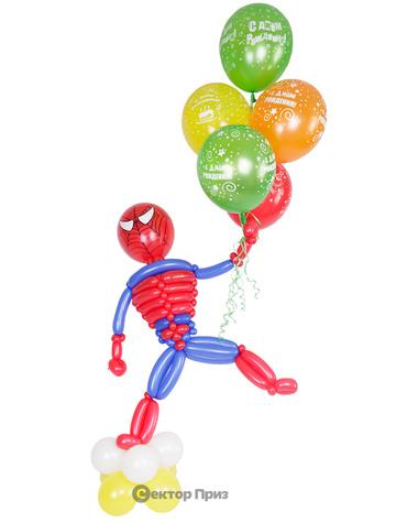 Фигура из шаров «Человек-паук»