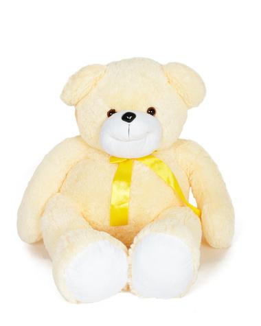 Медведь персиковый с бантом. 100см