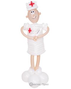 Фигура из шаров «Медсестра»