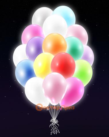 Разноцветные светящиеся шары