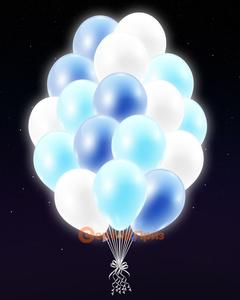 Голубые светящиеся шары