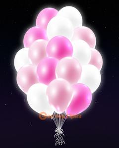 Розовые светящиеся шары