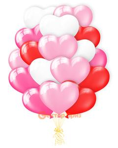 «Разноцветные сердца» - шары с гелием