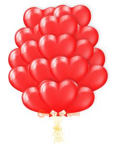 «Воздушные сердца» - шары с гелием