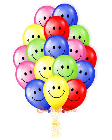 Веселая радуга - шары с гелием