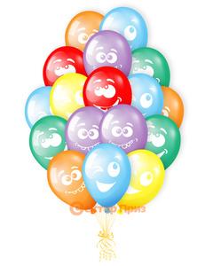 «Разноцветные улыбки» - шары с гелием