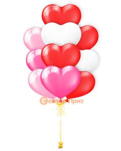 """Фонтаны из шаров, Фонтан из шаров """"Розовое сердце"""""""