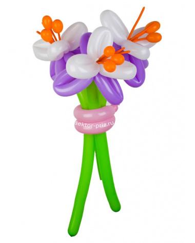 «Лилии» — 3 цветка из шаров