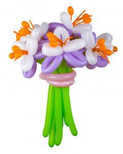 Букеты из воздушных шаров, «Красавицы-лилии» — 5 цветов из шаров