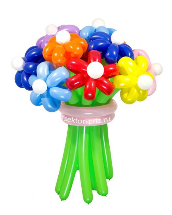 Букеты из воздушных шаров, «Мега» — 13 цветов из шаров