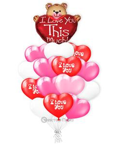 «Большая любовь» — шары с гелием. 21 шт.