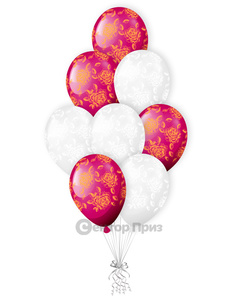 «Букет роз»<br/>шары с гелием