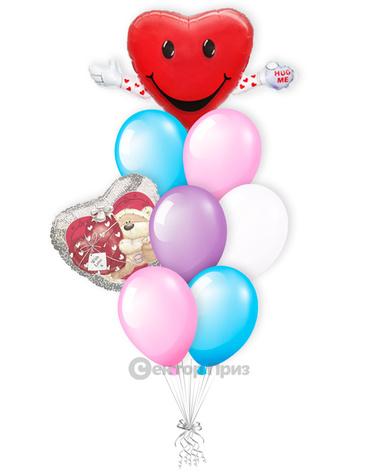«Обнимашки» — шары с гелием. 12 шт.